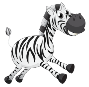 animal_black_and_white_zebra_clipart_image