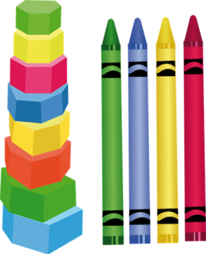 colored crayons transparent background