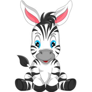 free_download_cute_baby_zebra_sitting_clipart