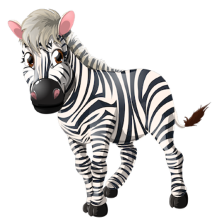 free_download_front_face_zebra_clipart_image