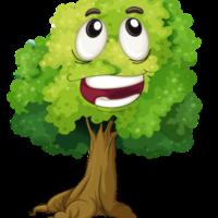 happy face tree clipart