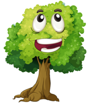 happy face tree clipart
