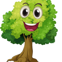 laughing face cartoon tree clipart