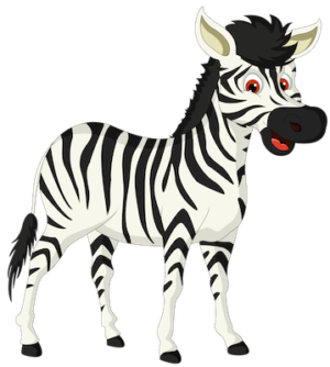 free_download_opening_mouth_cute_zebra_clipart