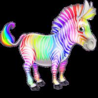 free_download_rainbow_zebra_free_clipart_image
