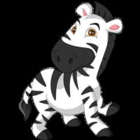 free_download_running_baby_zebra_clipart