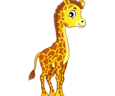 download_vector_big_face_cartoon_giraffe_standing_free_clipart