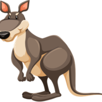 free_download_big_foot_cartoon_kangaroo_clipart