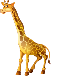 download_vector_brown_cartoon_giraffe_funny_clipart