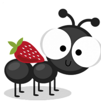 strawberry_cartoon_big_eyes_ant_clipart