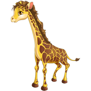 vector_cute_cartoon_female_giraffe_clipart