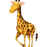 vector_cute_cartoon_standing_giraffe_clipart