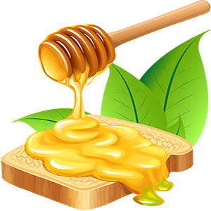 vector_fresh_honey_and_bread_transparent_clipart