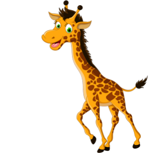 download_vector_funny_cartoon_giraffe_laughing_face_clipart