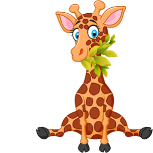 free_download_giraffe_eating_leaves_clipart_image