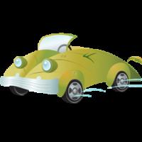 free_download_green_environment_cartoon_car_clipart
