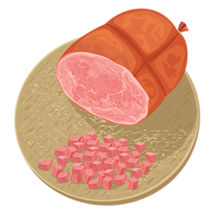 vector_ham_sausage_cartoon_clipart_png