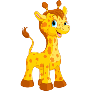 free_download_laughing_baby_giraffe_cartoon_animal_clipart