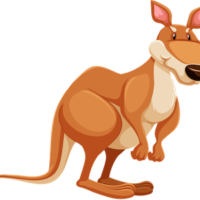 vector_powerful_cartoon_kangaroo_clipart