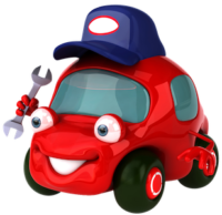 transparent_background_red_cartoon_car_free_clipart