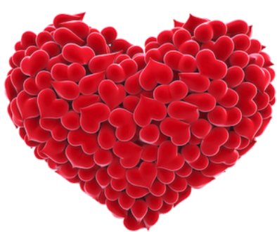 red_love_heart_transparent_background_clipart