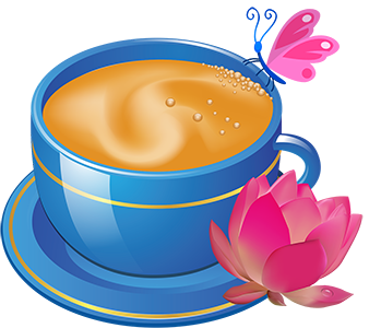vector_tea_cup_and_flower_free_clipart