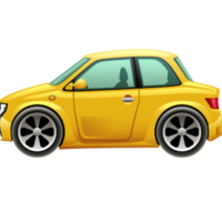 free_download_yellow_small_cartoon_car_clipart