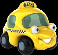 smily_face_yellow_taxi_cartoon_clipart_image