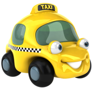 smily_face_yellow_taxi_cartoon_clipart_image