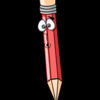 free_download_cute_surprise_face_red_color_pencil_clipart