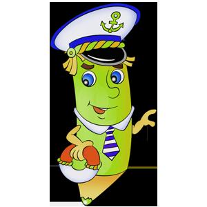 free-download-beautiful-cartoon-helmsman-color-pencil-clipart