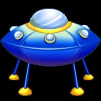 download-blue-cartoon-spaceship-free-clipart