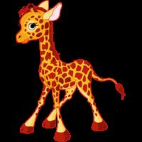 free-download-big-eyes-walking-giraffe-cartoon-animal
