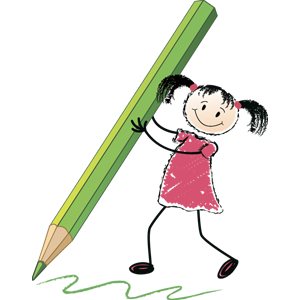 free-download-cartoon-girl-holding-a-pencil-clipart