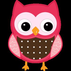 free-download-cartoon-pink-owl-transparent-clipart