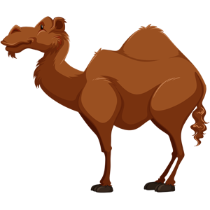 free-download-deep-brown-cartoon-animal-camel-clipart